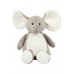 Peluche - César l'Éléphant   Prénom personnalisable