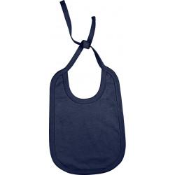 Bavoir Coton à lacet Réversible - Bleu Marine