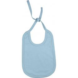 Bavoir Coton à lacet Réversible - Bleu Ciel