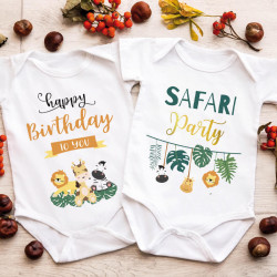 "Lot 2 Bodies - Twins | ""Safari Birthday"""