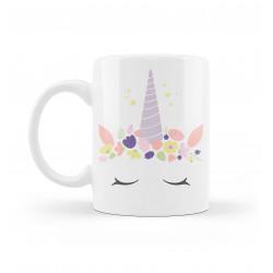 "Mug Prénom Personnalisable | ""Licorne Cœur"""