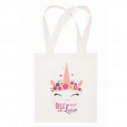 "Tote Bag   ""Belle comme une licorne"""