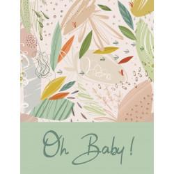 "Lot 10 invitations | ""Oh Baby Vert Amande"" (10.7x13.9) +..."